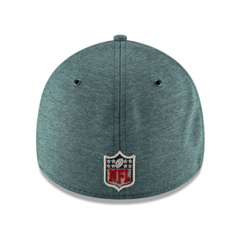 Philadelphia Eagles New Era NFL 2018 Sideline 39THIRTY Stretch-Fit Curved Hat - Green
