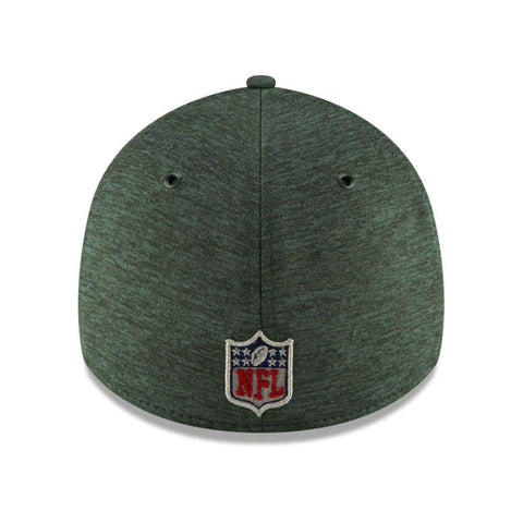 New York Jets New Era NFL 2018 Sideline 39THIRTY Stretch-Fit Curved Hat - Green