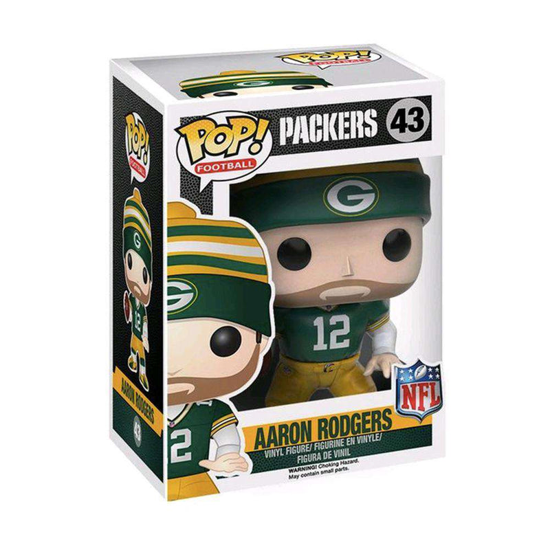 "Aaron Rodgers Green Bay Packers NFL Funko Pop Vinyl 3.75"" Figure - Green"
