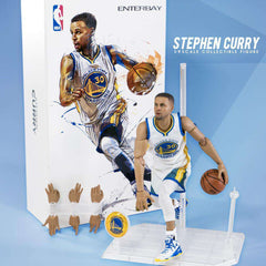"Steph Curry Golden State Warriors Enterbay NBA 1:9 Scale 8"" Figure"