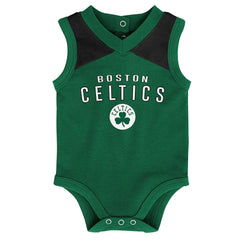 Infant Boston Celtics Outerstuff NBA Creeper Bib Bootie Set - Green