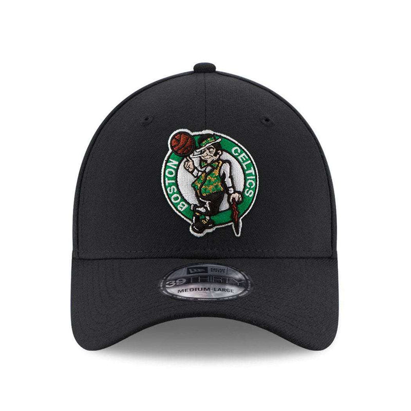 Boston Celtics New Era NBA Team 39THIRTY Stretch-Fit Curve Hat - Black