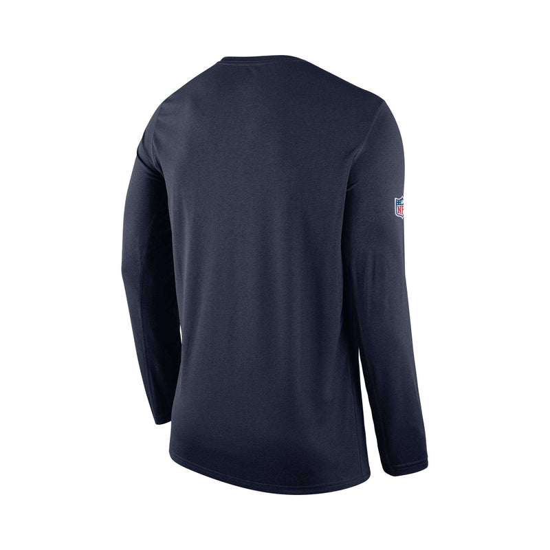 Youths New England Patriots Nike NFL On-Field Seismic Long Sleeve T-Shirt - Navy