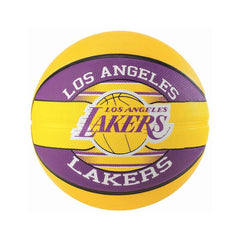 Kids Los Angeles Lakers Spalding NBA Size 5 Outdoor Team Basketball Ball