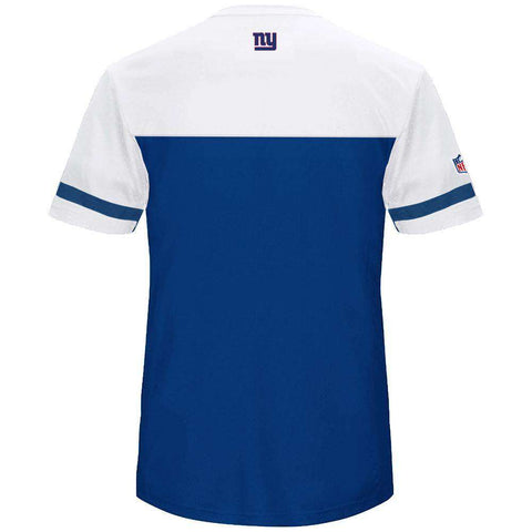 New York Giants Majestic NFL Poly Mesh Jersey Shirt - Blue