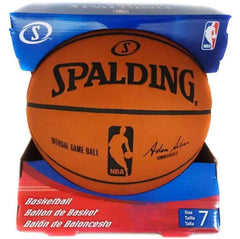 Official Spalding NBA Full Size Leather Game Basketball Ball - Size 7