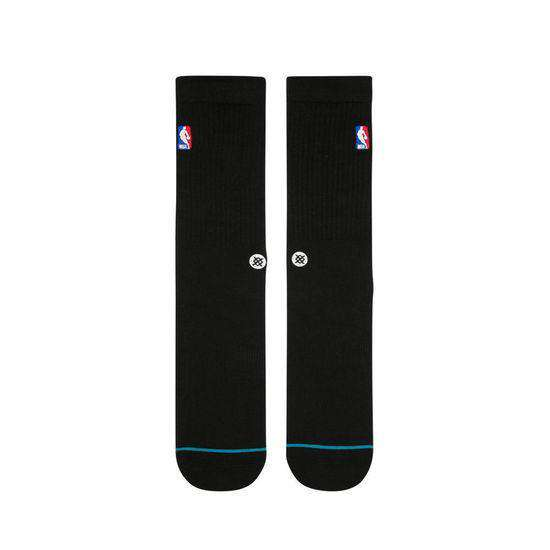 Stance NBA Logoman Casual Crew Socks - Black