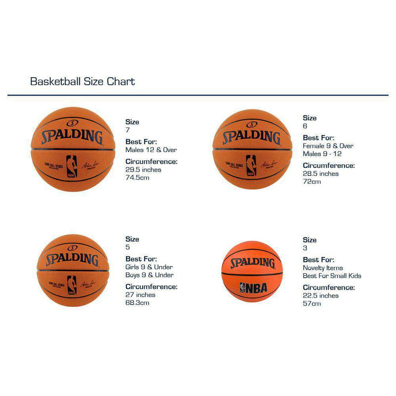 Spalding NBA Logoman Rubber Soft Grip Outdoor Basketball Ball - Size 7