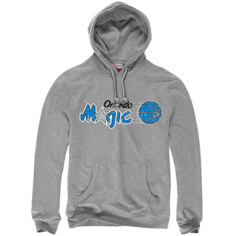 Orlando Magic Mitchell & Ness NBA HWC Distressed Hoodie Jumper - Grey