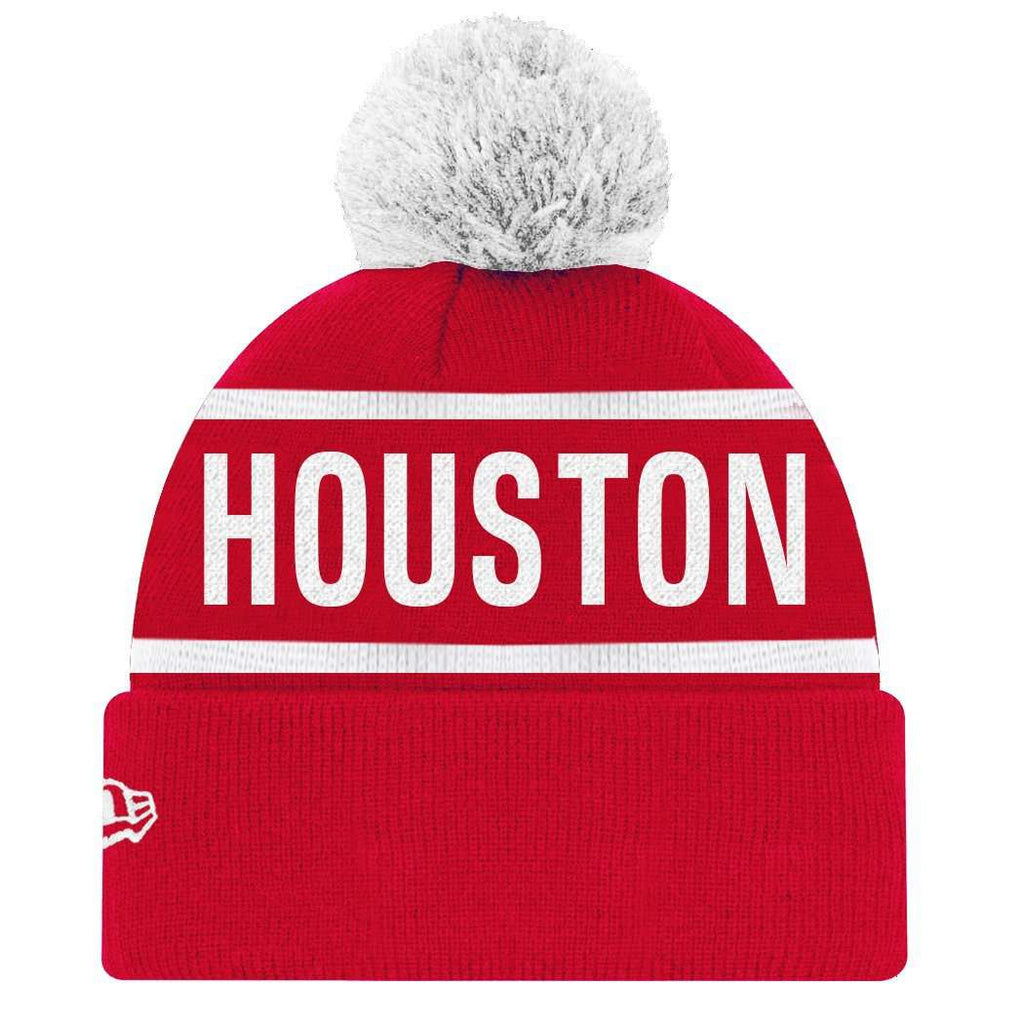 the latest 7bb6e 9ce29 Houston Rockets New Era NBA Team On Fire Knit Beanie - Red