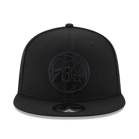 Philadelphia 76ers New Era NBA Black On Black 9FIFTY Snapback Hat