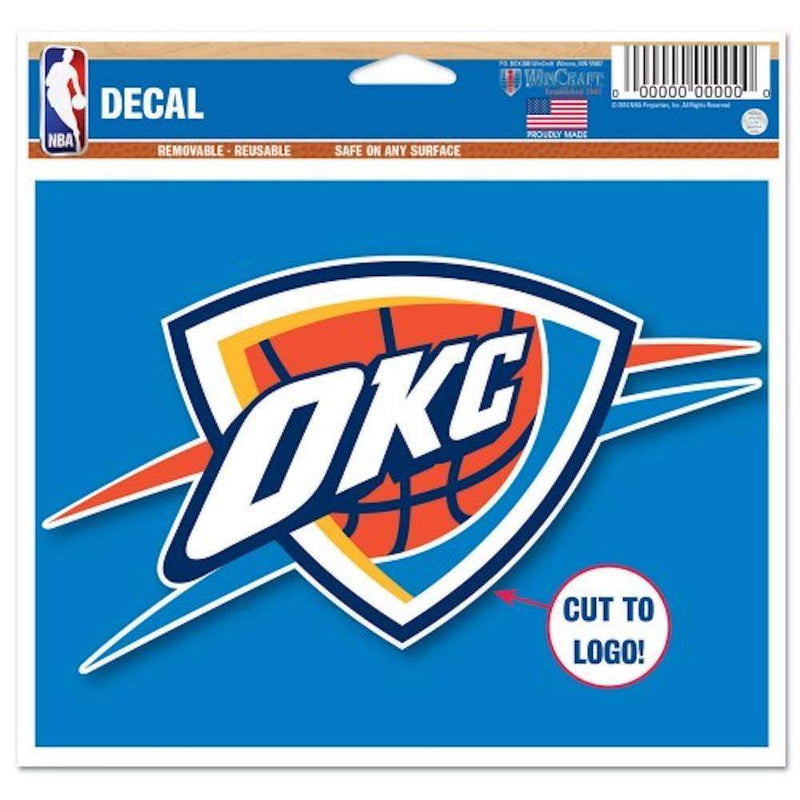 "Oklahoma City Thunder Wincraft NBA Multi-Use 4.5"" x 5.75"" Decal"