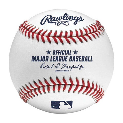 Rawlings Official MLB Game Baseball Ball w/Display Case