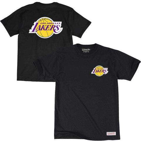 Los Angeles Lakers Mitchell & Ness NBA Triple Double HWC T-Shirt - Black