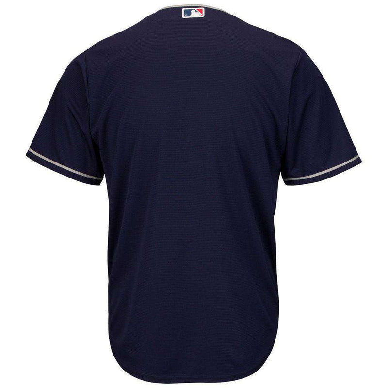 Cleveland Indians Majestic MLB AC Cool Base Replica Jersey - Navy