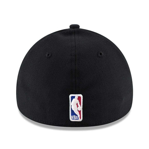 Chicago Bulls New Era NBA Wordmark 39THIRTY Curve Hat - Black