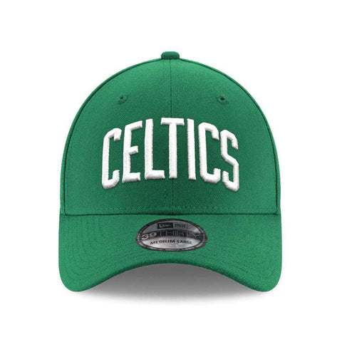 Boston Celtics New Era NBA Wordmark 39THIRTY Curve Hat - Green