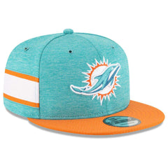 Miami Dolphins New Era NFL 2018 Sideline 9FIFTY Snapback Hat - Aqua