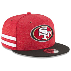 60ca57e0231 San Francisco 49ers New Era NFL 2018 Sideline 9FIFTY Snapback Hat - Red ...