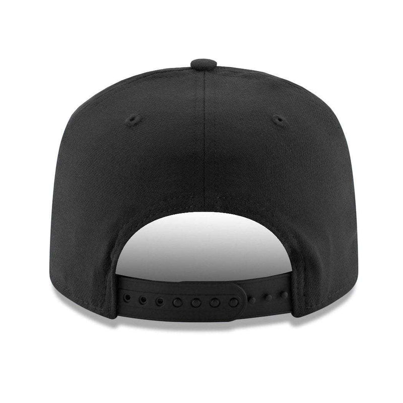 Oakland Raiders New Era NFL Team Stretch-Snap 9FIFTY Curved Snapback Hat -  Black 92c3de7f7c1d1