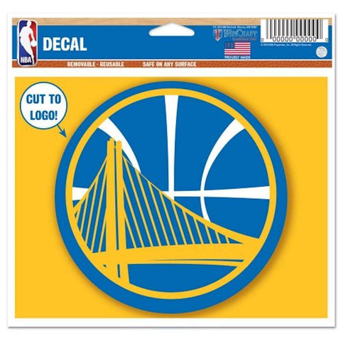 "Golden State Warriors Wincraft NBA Multi-Use 4.5"" x 5.75"" Decal"