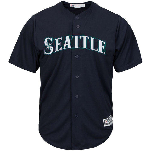 Seattle Mariners Majestic MLB AC Cool Base Replica Jersey - Navy