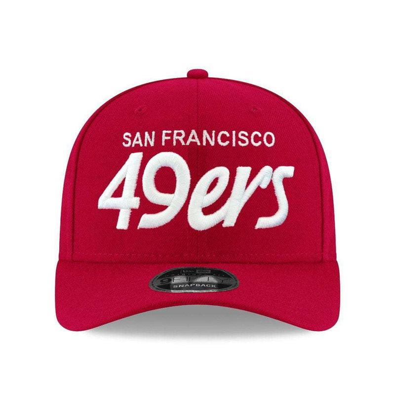 San Francisco 49ers New Era NFL Script Pre-Curved OF 9FIFTY Snapback Hat - Red