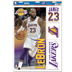 "LeBron James Los Angeles Lakers Wincraft NBA Multi-Use 11"" x 17"" Decal Set"