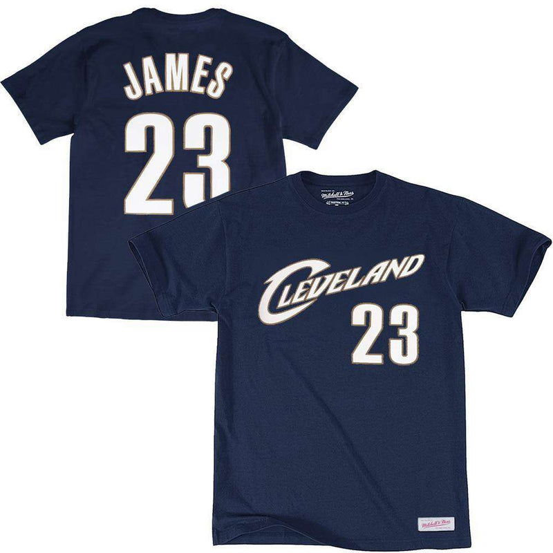 LeBron James Cleveland Cavaliers Mitchell & Ness NBA Player T-Shirt - Navy