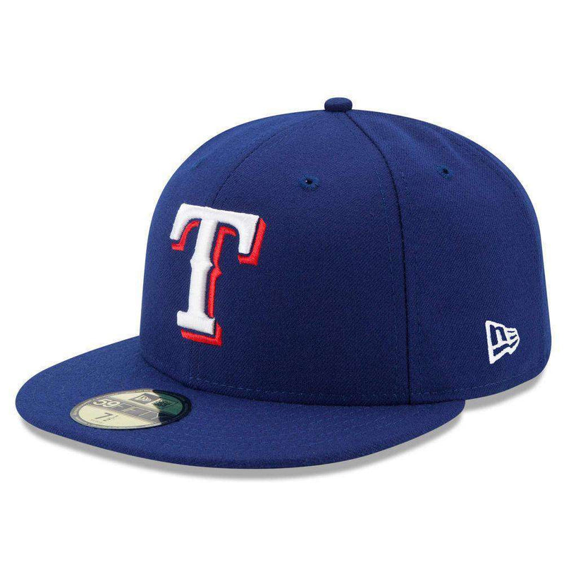 Texas Rangers New Era MLB AC On-Field 59FIFTY Fitted Hat - Blue
