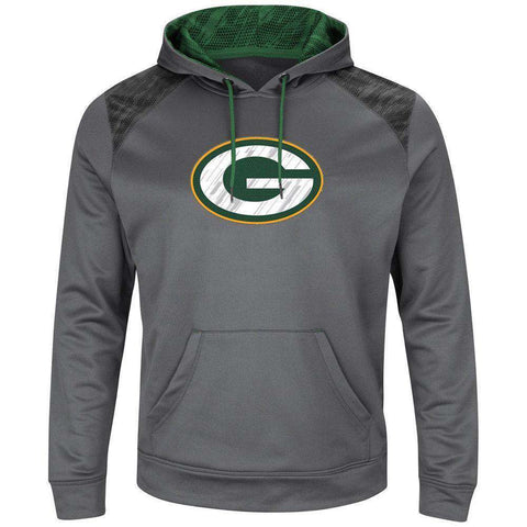 Green Bay Packers Majestic NFL Armor Performance Hoodie Jumper - Grey