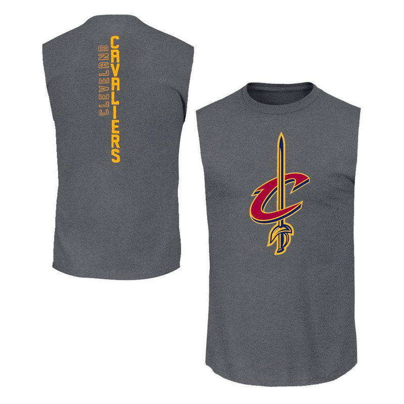 Youths Cleveland Cavaliers Outerstuff NBA Ultra Muscle Tank - Charcoal