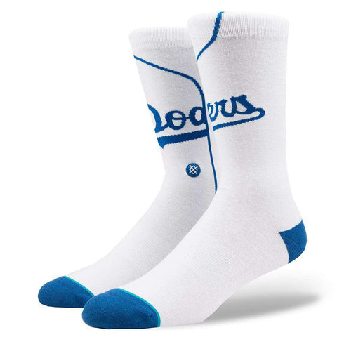 Los Angeles Dodgers Stance MLB Home Jersey Crew Socks -White
