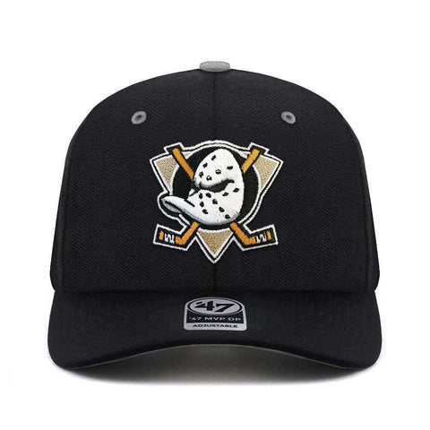 Mighty Ducks '47 NHL Team Audible DB Pre-Curved Snapback Hat - Black