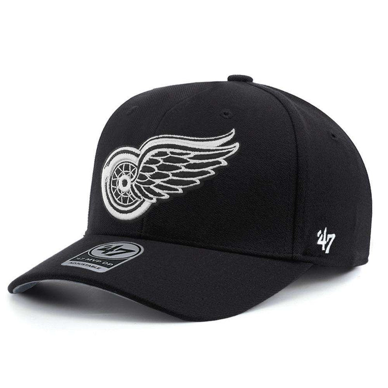 Detroit Red Wings '47 NHL Black & White Audible DB Pre-Curved Snapback Hat