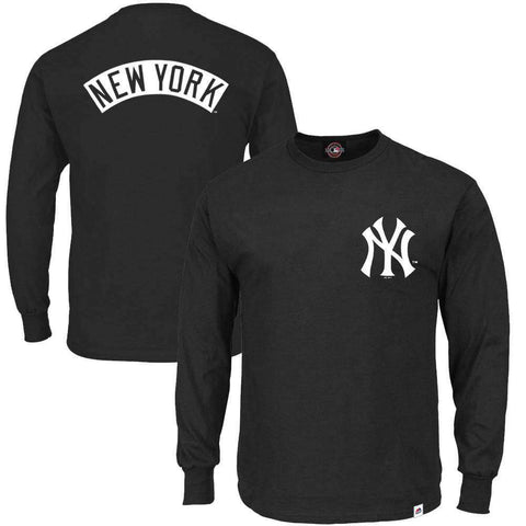 New York Yankees Majestic MLB Fentyn Long Sleeve T-Shirt - Black