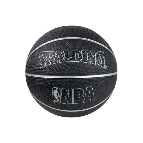 Spalding NBA Mini Size 3 Outdoor Basketball Ball - Black