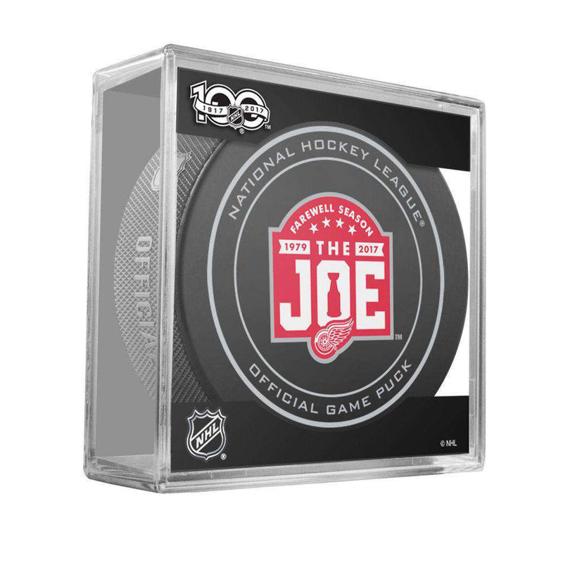 Detroit Red Wings Sher-Wood NHL Anniversary Puck w/Case