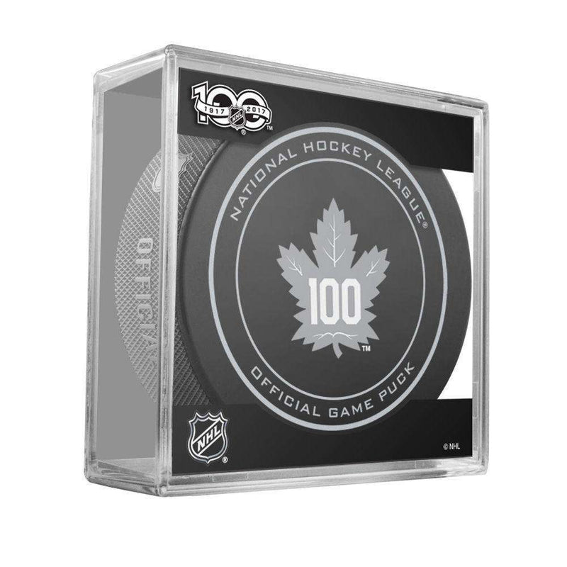 Toronto Maple Leafs Sher-Wood NHL Anniversary Puck w/Case