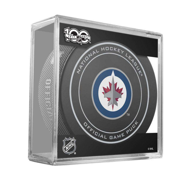 Winnipeg Jets Sher-Wood NHL Anniversary Puck w/Case