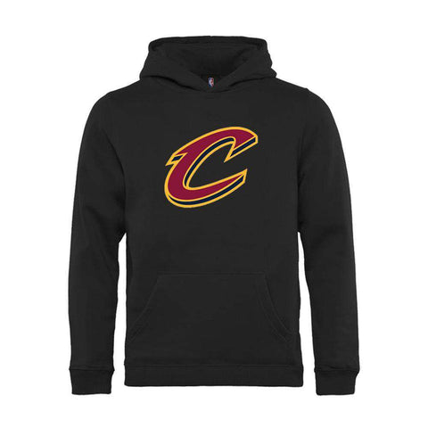 Youths Cleveland Cavaliers Outerstuff NBA Logo Hoodie Jumper - Black
