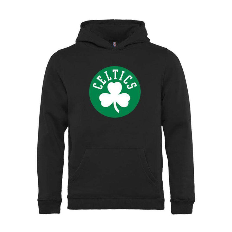Youths Boston Celtics Outerstuff NBA Logo Hoodie Jumper - Black