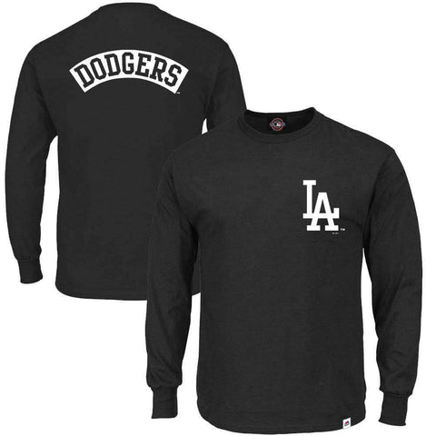 Los Angeles Dodgers Majestic MLB Fentyn Long Sleeve T-Shirt - Black