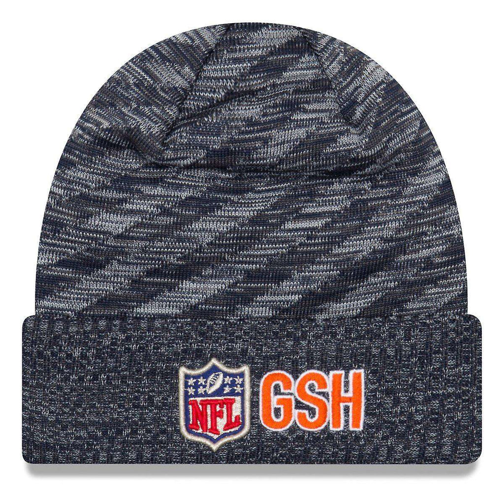 feb629f21 Chicago Bears New Era NFL 2018 NFL Sideline TD Knit Beanie - Navy