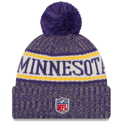 Minnesota Vikings New Era NFL 2018 NFL Sideline Knit Beanie - Purple