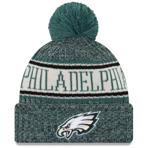 Philadelphia Eagles New Era NFL 2018 NFL Sideline Knit Beanie - Green