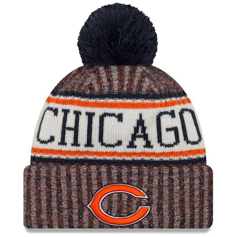 Chicago Bears New Era NFL 2018 NFL Sideline Knit Beanie - Navy