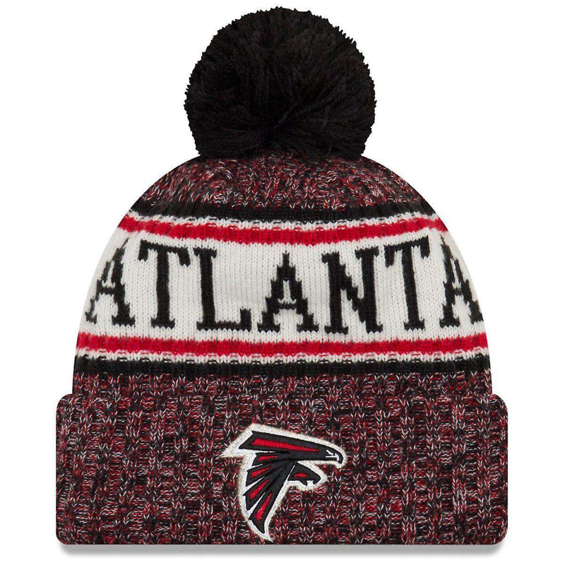 Atlanta Falcons New Era NFL 2018 NFL Sideline Knit Beanie - Black