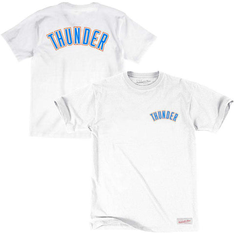 Oklahoma City Thunder Mitchell & Ness NBA Pocket Wordmark T-Shirt - White