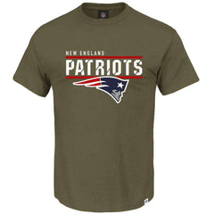 New England Patriots Majestic NFL Team Flex T-Shirt - Army